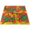 Lot de serviette de table en tissu madras - Tricolore