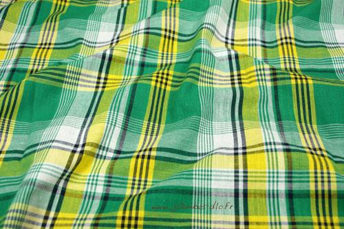 Tissu-madras-vert