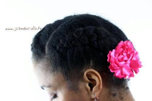 Barrette-Fleur-Rose-Portee