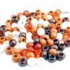 Perles en plastique - Marron assorti